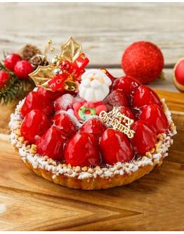 法式聖誕草莓派